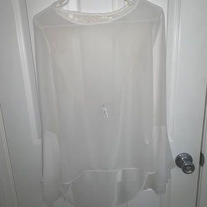 White silky shirt